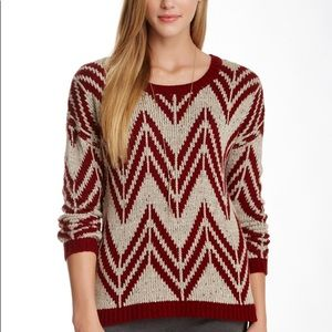 Maroon patterned sweater